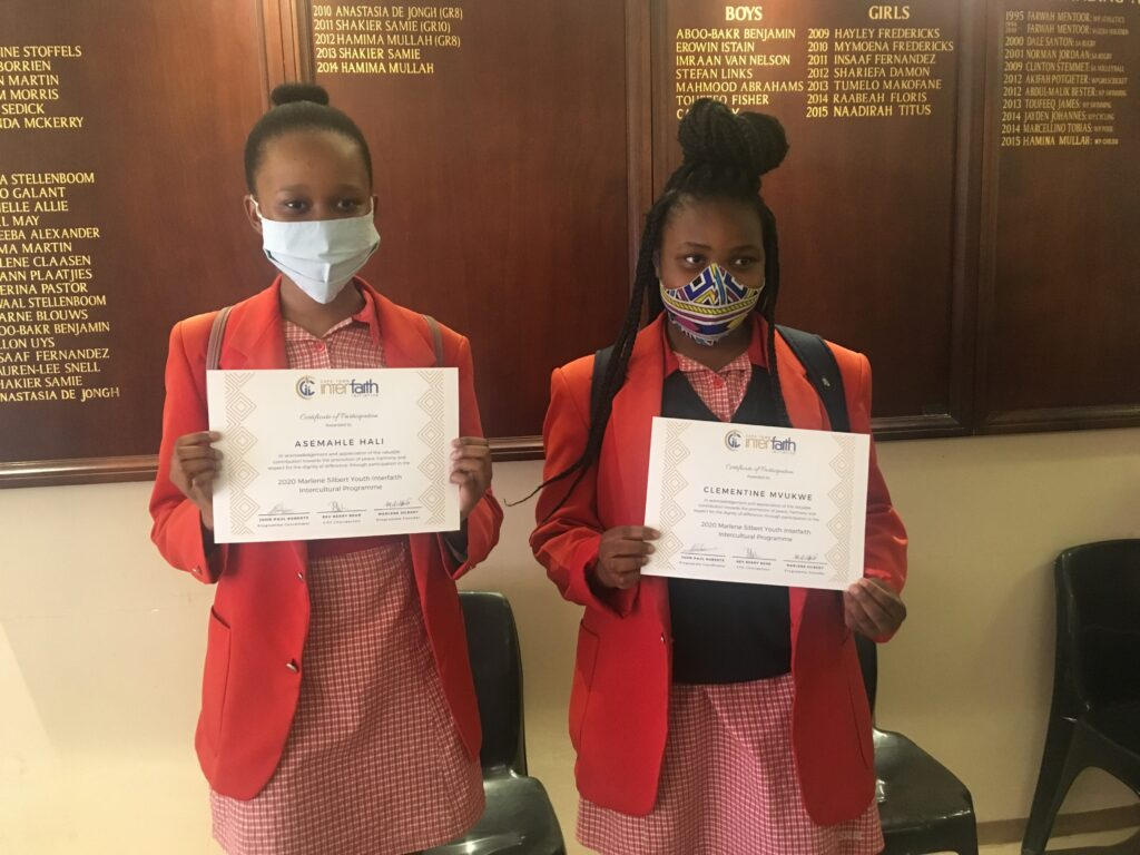 Asemahle and Clementine from Spine Road High