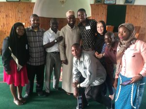 James (second from left) with fellow delegates, visiting a Mosque in Blantyre, Malawi